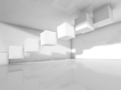 Fototapeta Prázdná bílá architektura, 3 d ilustrace