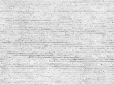 Fototapeta Prázdná část bíle lakovaného cihlové zdi.