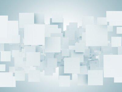 Fototapeta Prázdné abstraktní 3d čtverce