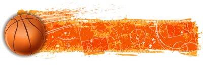 Fototapeta prázdné basketbalové hřiště banner