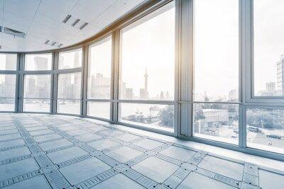 Fototapeta prázdné kanceláře pokoj v moderních kancelářských budov v svítání