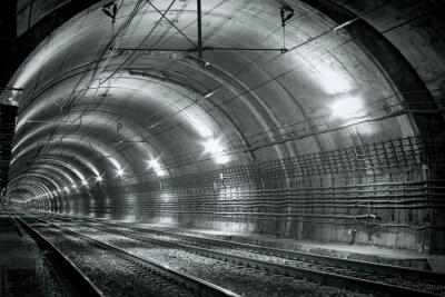 Fototapeta Prázdné metro tunel