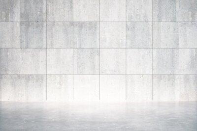 Fototapeta Prázdné místnosti s betonovou podlahou a stěnou