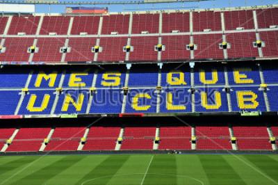 Fototapeta Přímý fotbalový stadionu Camp Nou v Barceloně, Španělsko.
