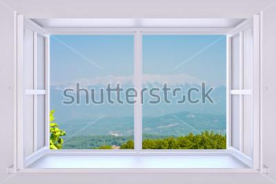 Fototapeta Příroda za oknem 3d render s vloženou fotografií