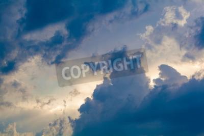 Fototapeta Přirozeného pozadí nebe a mraky