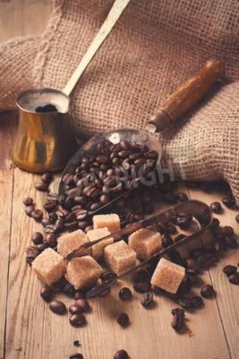 Fototapeta Přísady a nádobí pro výrobu kávy