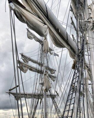 Fototapeta Přístavní staré plachetnice