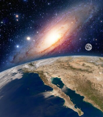 Fototapeta Prvky tohoto obrázku zařízeném NASA.