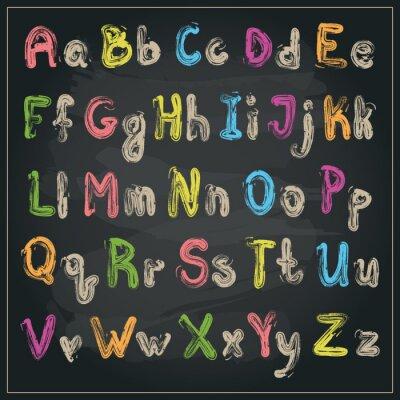 Fototapeta Psaný s kartáčem abecedy