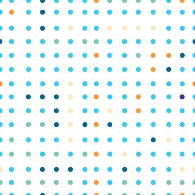 Fototapeta Puntíky vektorové bezešvé vzor. Tečky různých barev.