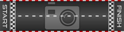 Fototapeta Racing asphalt road. Start and finish concept. Vector illustration