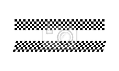 Fototapeta Racing flag Design Template. Race flag Design Vector. Speed Flag Simple Design Illustration Vector.