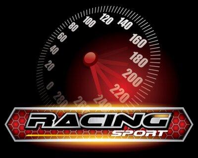 Fototapeta RACING SPORT KONCEPT pro logo vektor Design