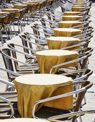 Fototapeta řady židlí