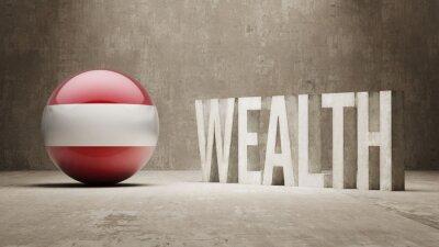 Rakousko. Bohatství Concept.