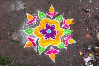 Fototapeta Rangoli / Munnar (Kerala / Inde