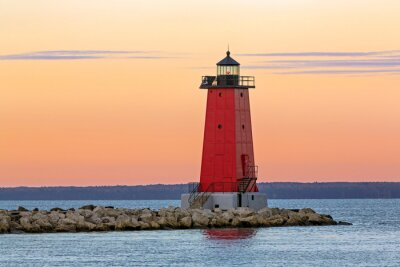 Fototapeta Ráno Manistique Lighthouse