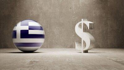 Řecko. Peníze Sign koncept.