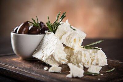Fototapeta Řecký sýr feta