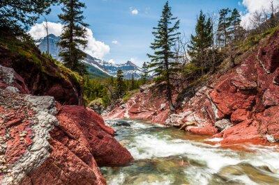 Fototapeta Red Rock Creek v pohybu a kaňonu