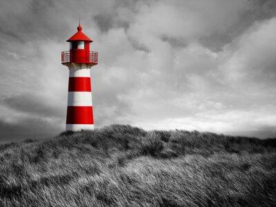 Fototapeta Red White Lighthouse