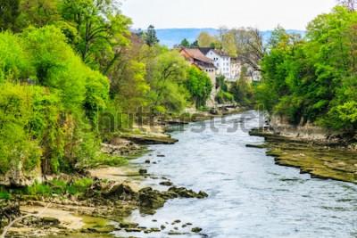 Fototapeta Řeka Aare ve městě Brugg ve Švýcarsku