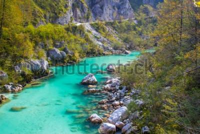 Fototapeta Řeka Soca ve Slovinsku v Evropě