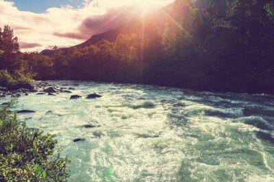 Fototapeta Řeka v Norsku