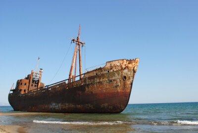 Fototapeta relitto di una loď arenata