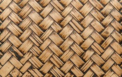 Fototapeta řemeslníci bambusové tkát textury na pozadí