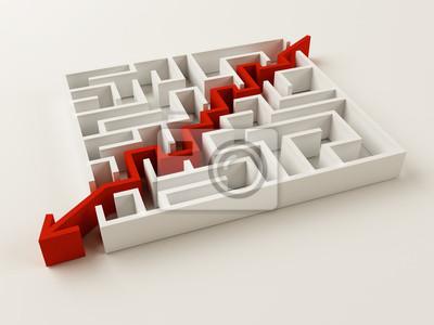 Řešené bludiště puzzle