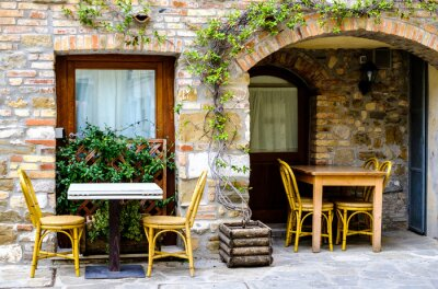 Fototapeta Restaurace na chodníku