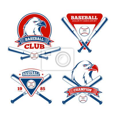 Fototapeta Retro baseball sportovní vektorové odznaky pro chlapce sportovní  oblečení 6c44fd6f7a