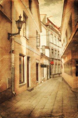Fototapeta Retro styl obraz starého evropského ulice