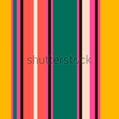 Fototapeta Retro světlé barevné bezešvé pruhy vzor. Abstraktní vektorové pozadí. Stylové barvy.
