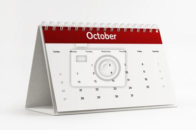 Října Kalendář Plánování