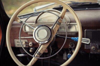Fototapeta řízení retro auto