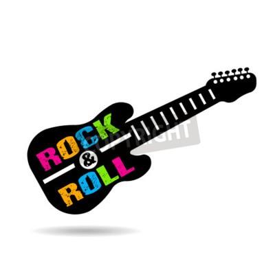 Fototapeta Rock and roll kytara