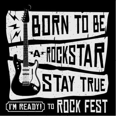 Fototapeta Rock Music Festival Vector tričko nebo plakát Ilustrace