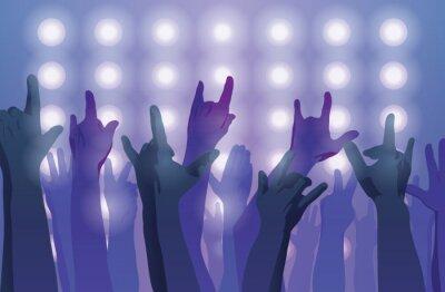 Fototapeta Rockový koncert. Ruce vzhůru.