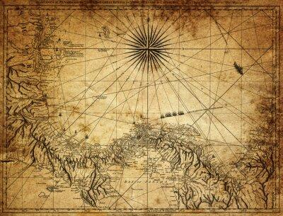 Fototapeta ročník mapa Panama