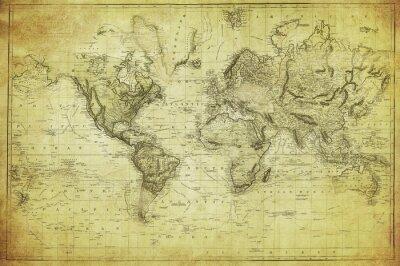 Fototapeta ročník mapa světa 1831