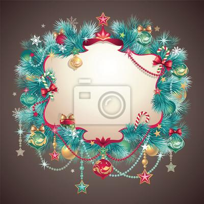 Fototapeta ročník vánoční pozdrav pozvání banner