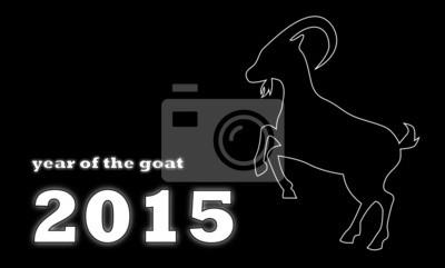 Fototapeta Rok kozy - černé pozadí