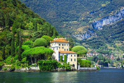 Fototapeta romantický Lago di Como, Villa del Balbianello