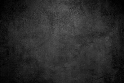 Fototapeta Rough Black wall slate texture rough background, dark concrete floor or old grunge background