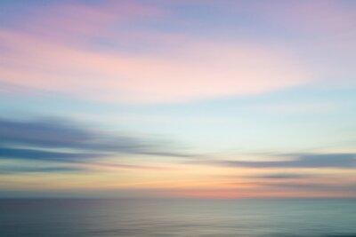 Fototapeta Rozmazané rozostřeným západ slunce obloha a oceán přírodní pozadí.