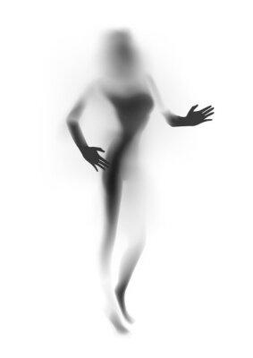 Fototapeta Rozmazané sexy žena silueta, ruce. Vektorové ilustrace.