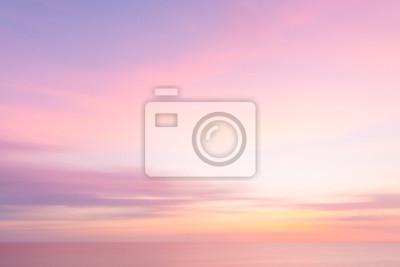 Fototapeta Rozmazané západu slunce obloha a oceán přírodní pozadí